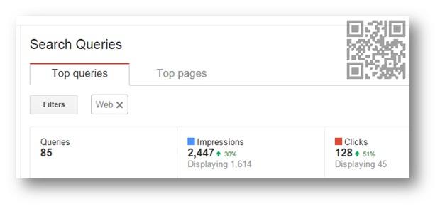 שאילתות חיפוש בכלי מנהל האתרים של גוגל